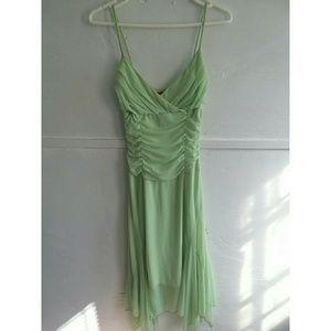 Ruby Rox Mint Green Sleeveless Chiffon Flare Dress